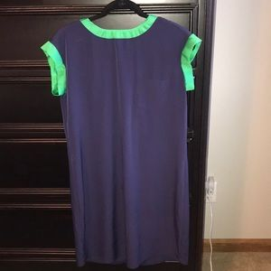 Dress, navy blue and green
